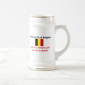 Caneca De Cerveja Casado a um belga