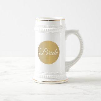 Caneca De Cerveja Casamento personalizado ouro