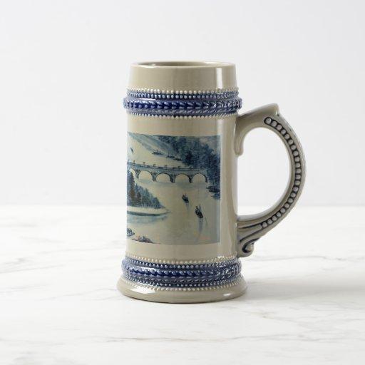 caneca de cerveja chinesa da imagem da porcelana d