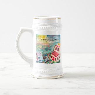 Caneca De Cerveja Copo do por do sol de Mykonos