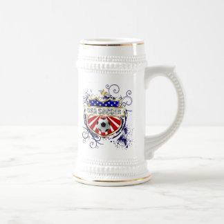 Caneca De Cerveja Crachá do emblema do futebol dos EUA