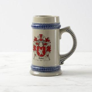 Caneca De Cerveja Crista da família do leme