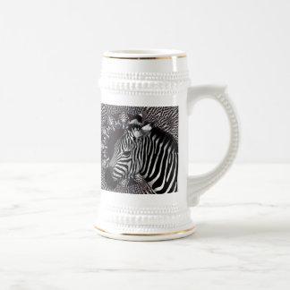Caneca de cerveja da arte da zebra