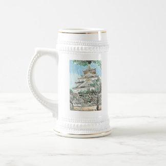 Caneca de cerveja da cerveja de Japão do castelo