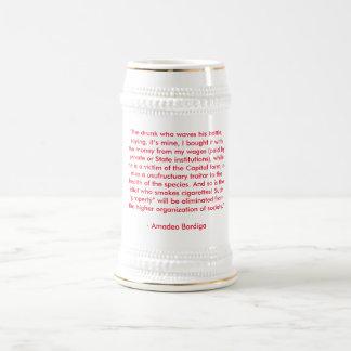 Caneca de cerveja da cerveja do anti-bebendo de