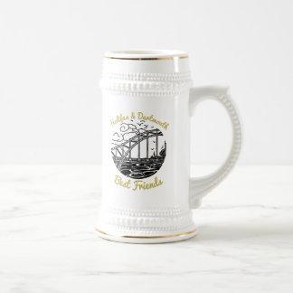 Caneca de cerveja da cerveja dos melhores amigos