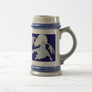 Caneca De Cerveja Dançarino da lua azul