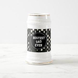 Caneca De Cerveja De Bestest do pai dia dos pais nunca -