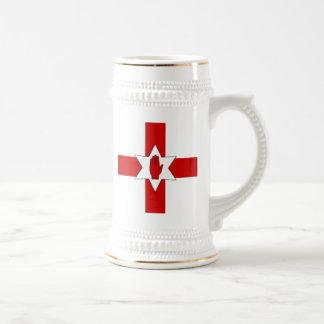 Caneca de cerveja de Irlanda do Norte - estrela &