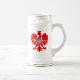 Caneca de cerveja de Polska Eagle