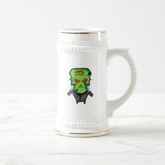 Caneca De Cerveja Desenhos animados vermelhos e verdes o Dia das