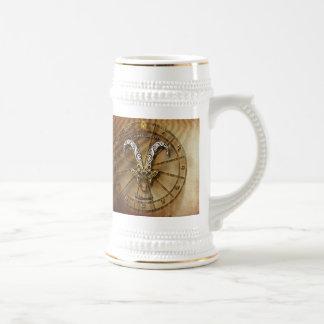 Caneca De Cerveja Design da astrologia do zodíaco do Capricórnio