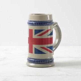 Caneca De Cerveja Design original Union Jack do ponto de cruz