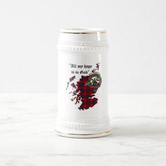 Caneca de cerveja do crachá do clã de Fraser