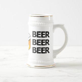 Caneca de cerveja do logotipo do JP da cerveja da
