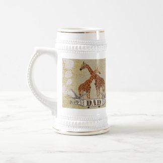 Caneca de cerveja do pai dos girafas