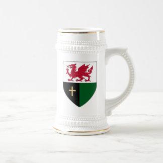 Caneca de cerveja do protetor de Galês - dragão &