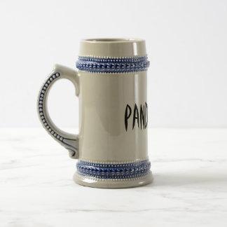 Caneca de cerveja do suco da panda