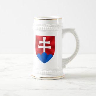 Caneca De Cerveja Emblema de Slovakia para Slovaks