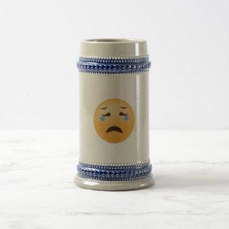 Caneca De Cerveja Emoji triste