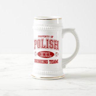 Caneca De Cerveja Equipe polonesa do bebendo