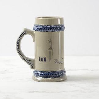 Caneca De Cerveja Esboço elegante elegante nostálgico de Belgrado