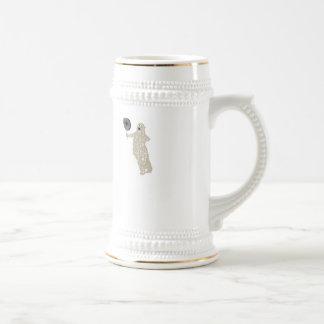 Caneca De Cerveja Eu sou o urso polar. Prática de alvo