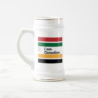 Caneca de cerveja geral canadense tradicional da