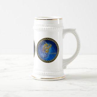 Caneca De Cerveja Horóscopo do design da astrologia do zodíaco do