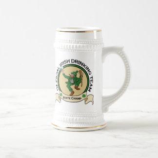 Caneca de cerveja irlandesa da cerveja da equipe