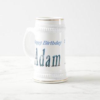 Caneca De Cerveja Logotipo conhecido azul de Adam,