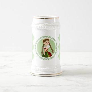 Caneca De Cerveja Menina no Dirndl
