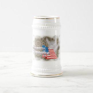 Caneca De Cerveja Meu país, minhas tropas, ILY