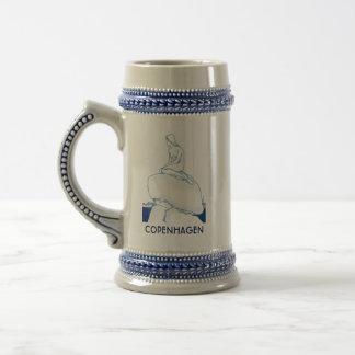 Caneca De Cerveja Nostálgico elegante elegante do esboço de