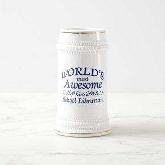 Caneca De Cerveja O bibliotecário de escola o mais impressionante do
