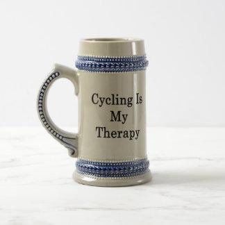 Caneca De Cerveja O ciclismo é minha terapia