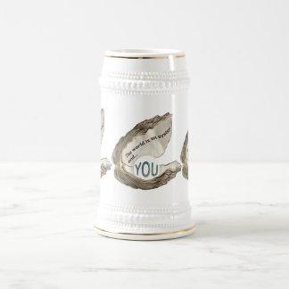 Caneca De Cerveja O mundo é sua ostra e você é a pérola