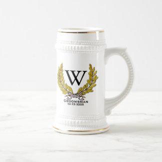 Caneca De Cerveja O Padrinho de casamento-Melhor homem do monograma
