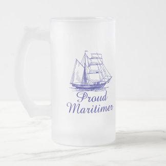 Caneca de cerveja orgulhosa do fosco de Maritimer
