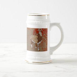Caneca de cerveja ornamentado de bronze do lama