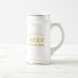 Caneca De Cerveja Pai da mensagem feita sob encomenda do dia dos