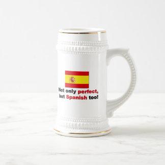 Caneca De Cerveja Perfeito e espanhol