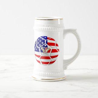 Caneca De Cerveja Presentes da bola de futebol dos Estados Unidos
