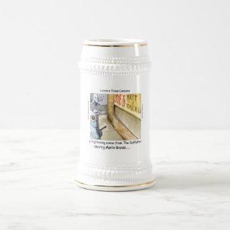 Caneca De Cerveja Presentes engraçados da máfia dos peixes de