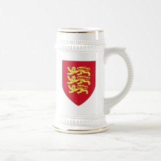 Caneca de cerveja real dos braços de Inglaterra