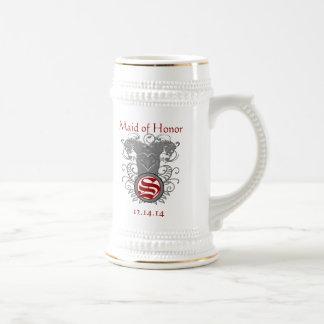 Caneca De Cerveja Redemoinho do leão do vintage do casamento da