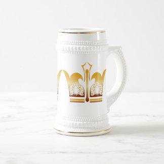 Caneca De Cerveja Rei do branco do ouro