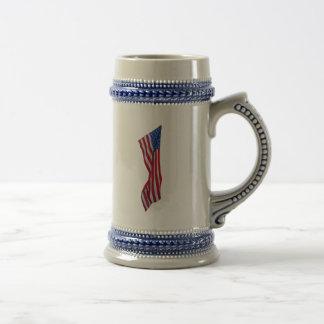 Caneca de cerveja Ruffled da bandeira