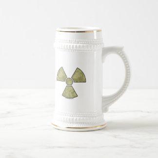 Caneca De Cerveja Símbolo de advertência radioativo