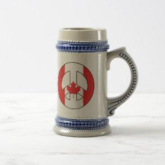 Caneca De Cerveja Sinal de paz canadense